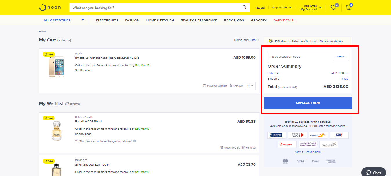 How To Use Noon Coupon Code